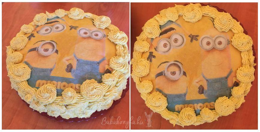 torta minions minyonok