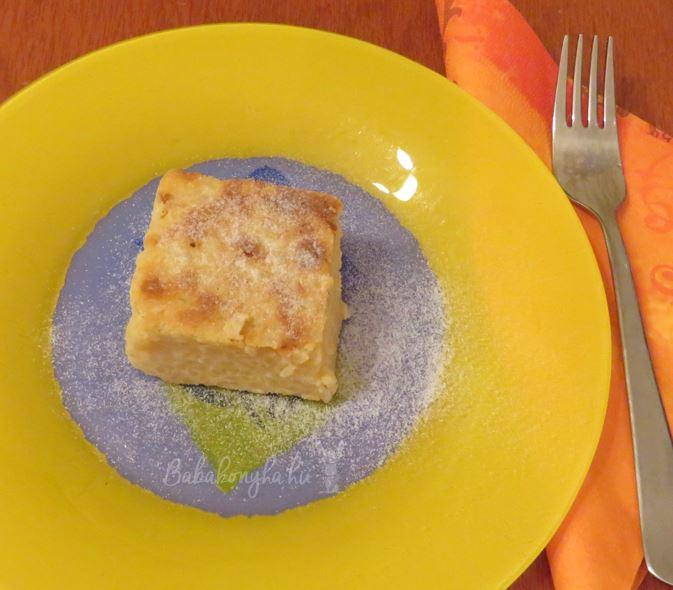 rizskoch kocka tejmentes fruktozmentes