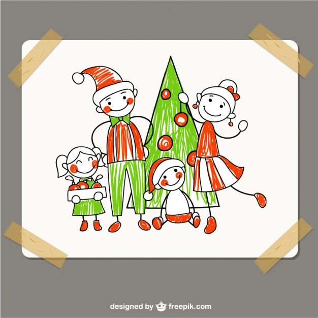 christmas-family-drawing_23-2147528912